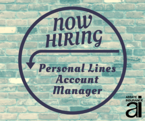 We Are Hiring: Personal Lines Account Manager