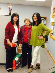 Kathy Marinaccio, Mary Haeckel, and Jessica Ritoe from Christmas 2016.