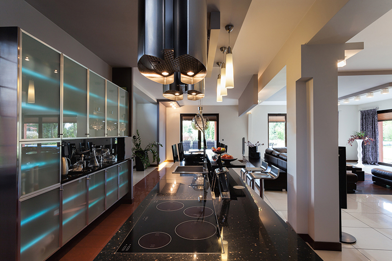 picture of a kitchen with home appliances