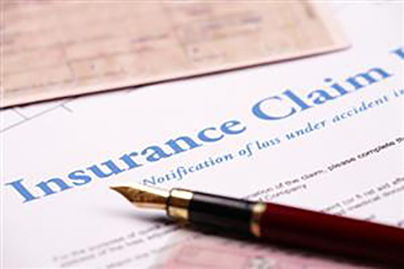 an insurance claim form