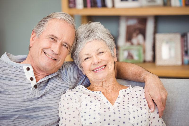 seniors smiling together