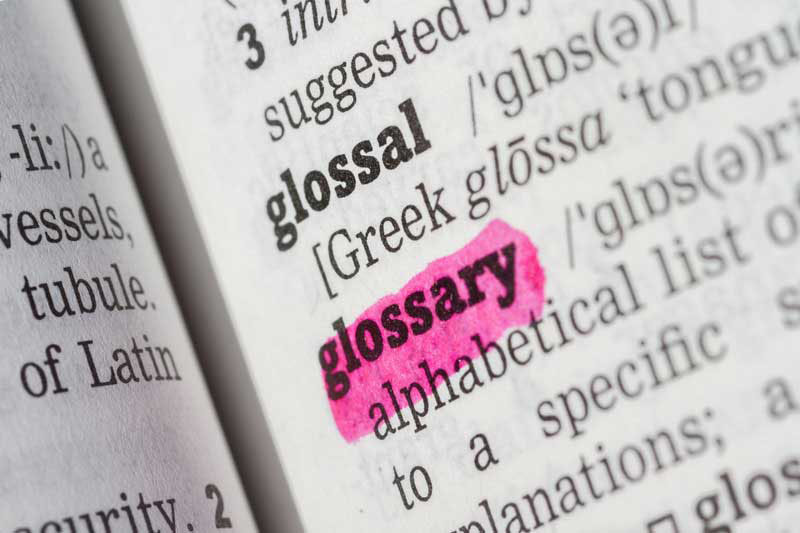highlighed glossary